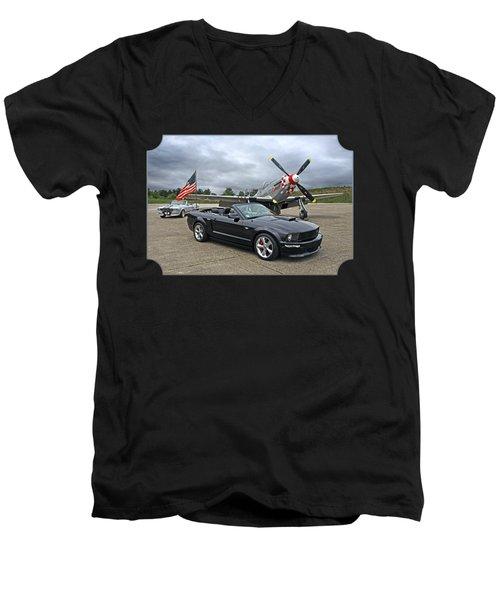 Three Generations Men's V-Neck T-Shirt by Gill Billington