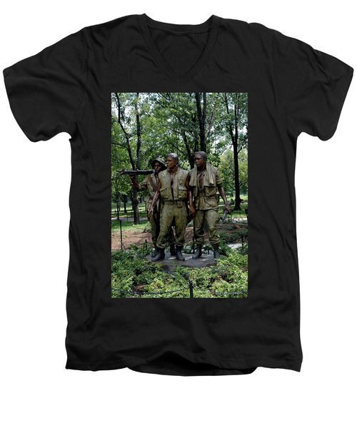 Three Servicemen Men's V-Neck T-Shirt