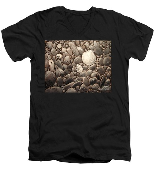 Three Shells Men's V-Neck T-Shirt by Mary Hubley
