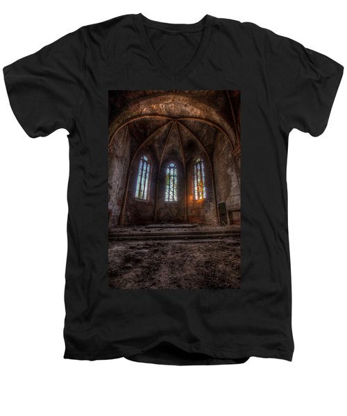 Three Tall Arches Men's V-Neck T-Shirt by Nathan Wright
