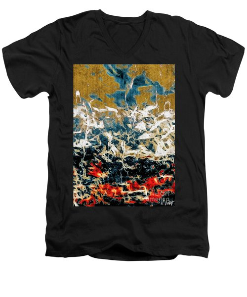 Men's V-Neck T-Shirt featuring the photograph Through The Cracks by William Wyckoff