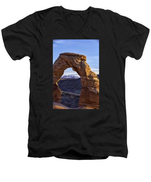 Through The Delicate Arch Men's V-Neck T-Shirt
