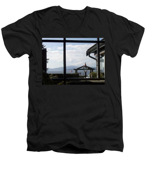 Men's V-Neck T-Shirt featuring the photograph Through The Looking Glass by Mary Mikawoz