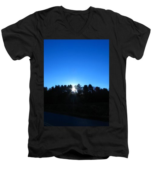 Through The Trees Brightly Men's V-Neck T-Shirt