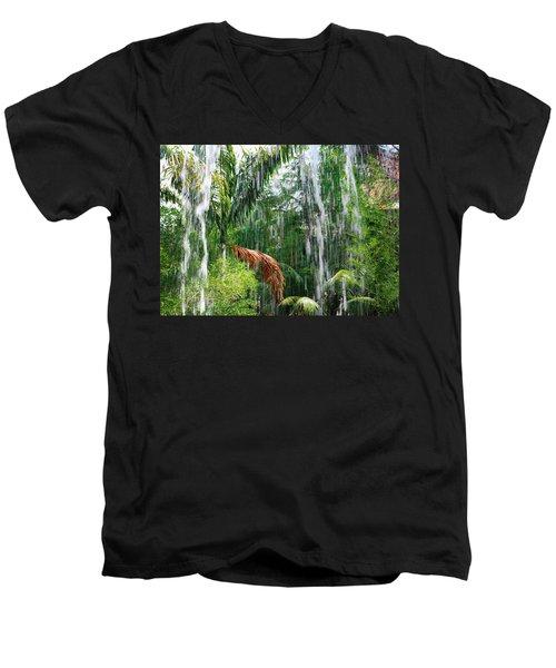 Through The Waterfall Men's V-Neck T-Shirt