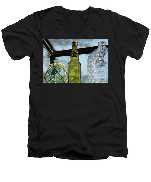 Thru The Looking Glass 3 Men's V-Neck T-Shirt by Megan Cohen