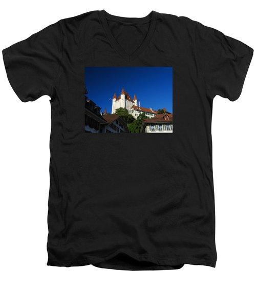 Thun Castle Men's V-Neck T-Shirt by Ernst Dittmar