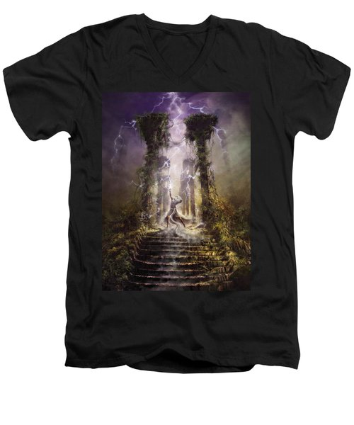 Thunderstorm Wizard Men's V-Neck T-Shirt