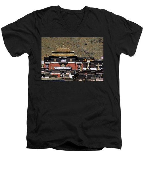 Tibet_110-6 Men's V-Neck T-Shirt
