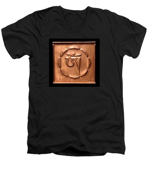 Tibetan Om Men's V-Neck T-Shirt by Suhas Tavkar