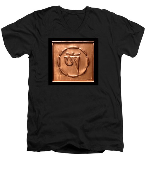 Tibetan Om Men's V-Neck T-Shirt
