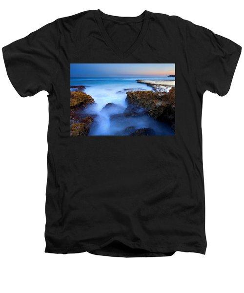 Tidal Bowl Boil Men's V-Neck T-Shirt by Mike  Dawson