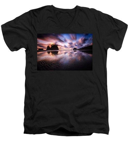 Tidal Reflection Serenity Men's V-Neck T-Shirt