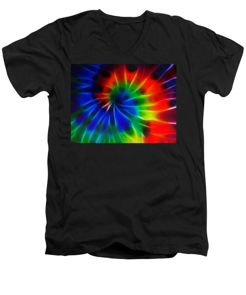 Tie Dye Men's V-Neck T-Shirt