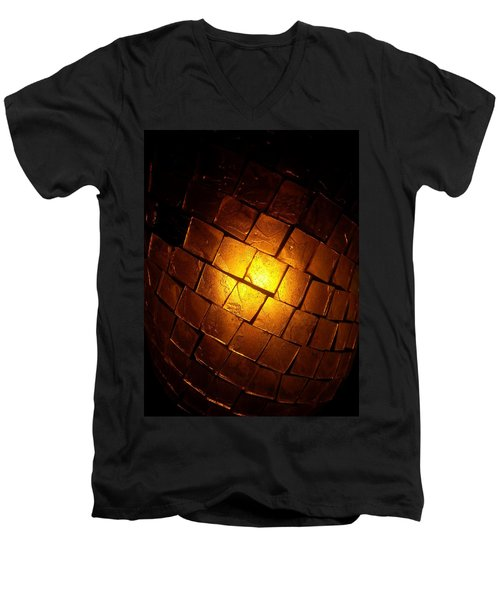 Men's V-Neck T-Shirt featuring the photograph Tiffany Lamp by Robert Knight