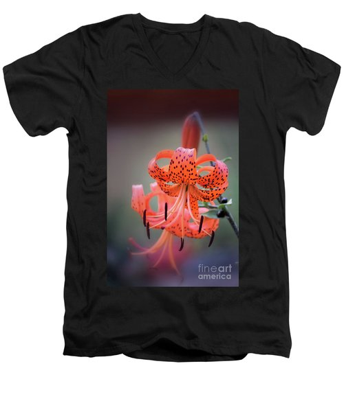 Tiger Lily 2 Men's V-Neck T-Shirt