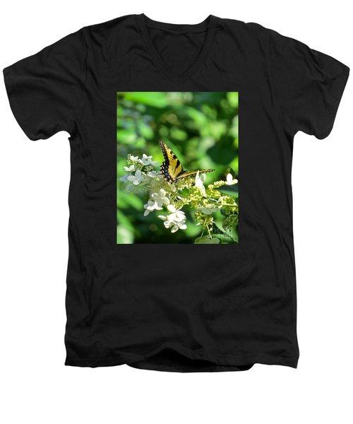 Tiger Swallowtail  Men's V-Neck T-Shirt by Nancy Patterson