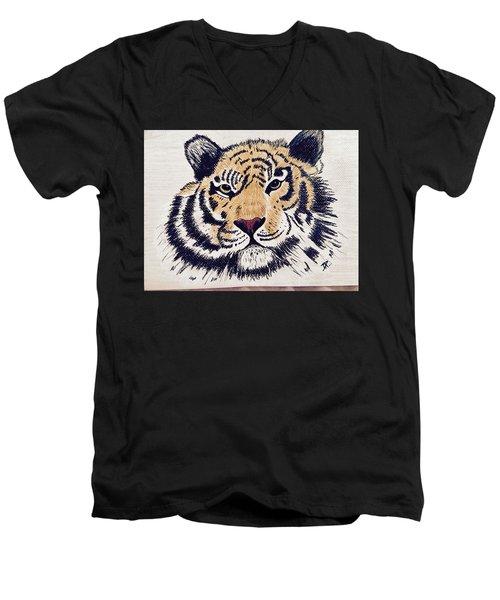 Tiger Tiger Burning Bright Men's V-Neck T-Shirt