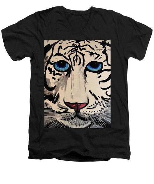 Tigger Men's V-Neck T-Shirt by Nora Shepley