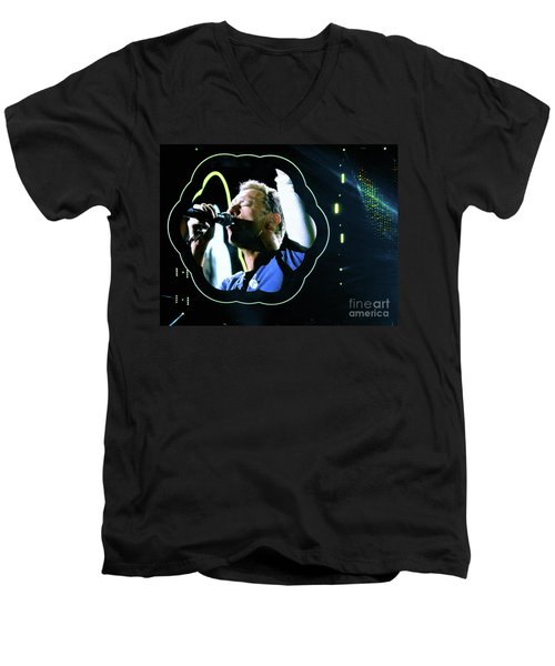 Chris Martin - A Head Full Of Dreams Tour 2016  Men's V-Neck T-Shirt by Tanya Filichkin