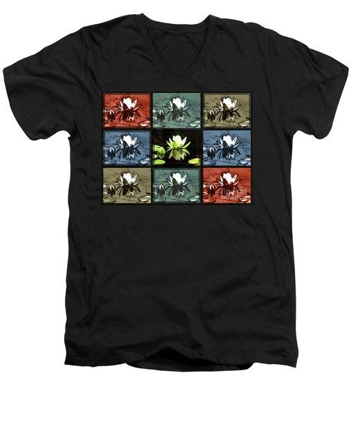 Tiled Water Lillies Men's V-Neck T-Shirt