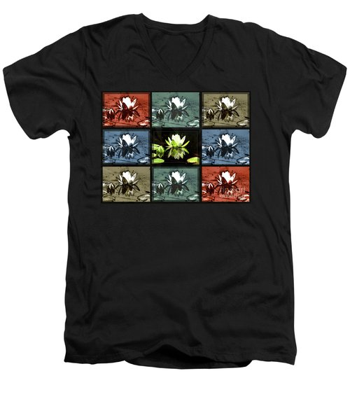 Tiled Water Lillies Men's V-Neck T-Shirt