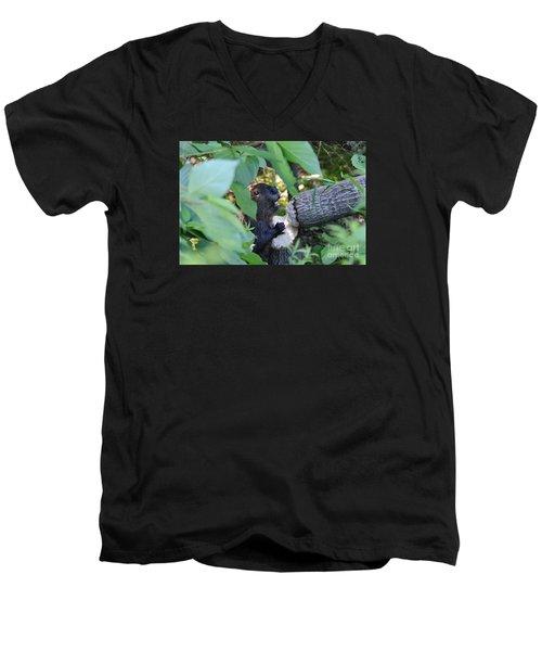 Timberrrrr Men's V-Neck T-Shirt by Sandra Updyke