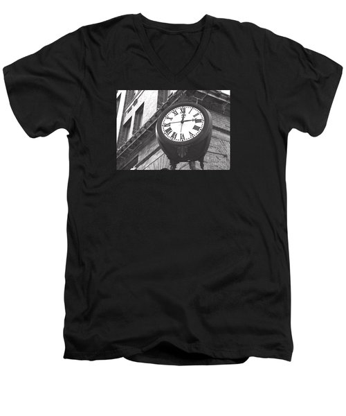 Men's V-Neck T-Shirt featuring the photograph Time Keeps Ticking by Rebecca Davis