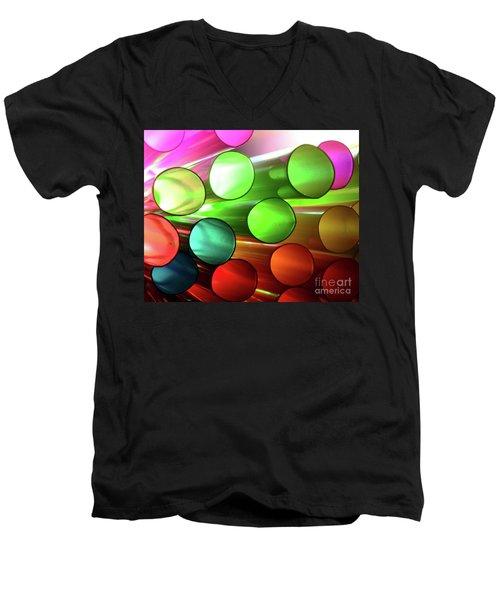 Time Tubes Men's V-Neck T-Shirt