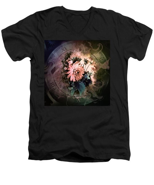 Timeless Dahlia Men's V-Neck T-Shirt