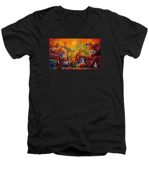 Timeless Paradise Men's V-Neck T-Shirt