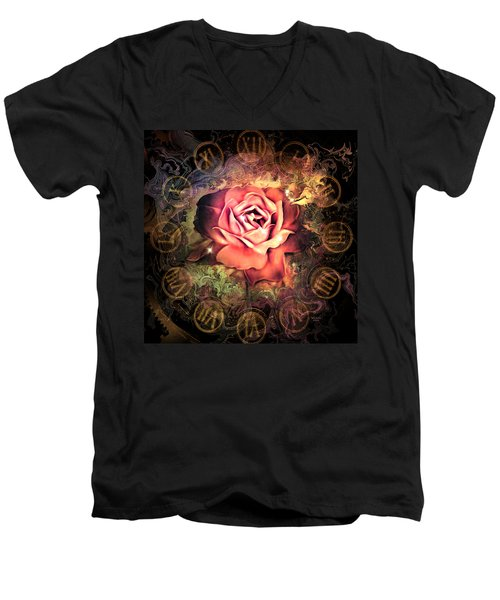 Timeless Rose Men's V-Neck T-Shirt