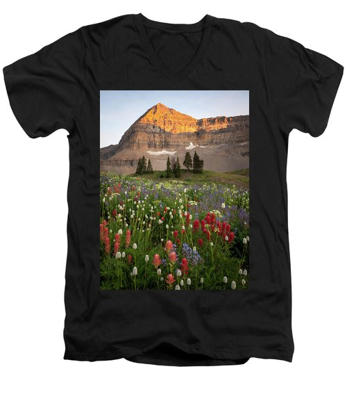 Timpanogos Bouquet Men's V-Neck T-Shirt
