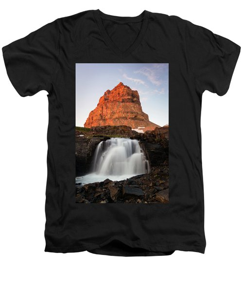 Timpanogos Waterfall Men's V-Neck T-Shirt