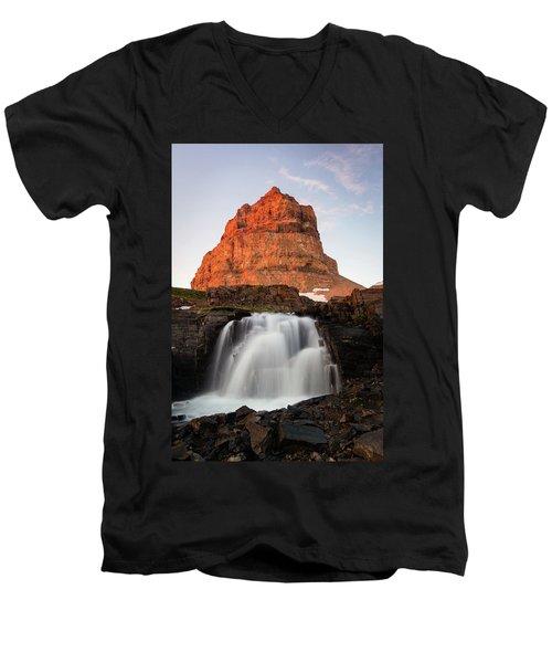 Timpanogos Waterfall Men's V-Neck T-Shirt