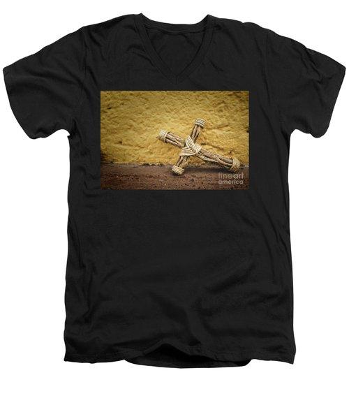 Tiny Cross  Men's V-Neck T-Shirt