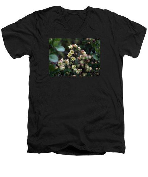 Tiny Flowers Men's V-Neck T-Shirt by Richard Brookes