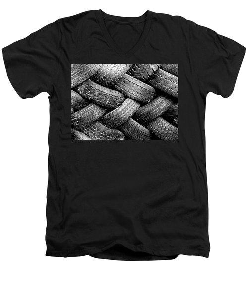 Tired Treads Men's V-Neck T-Shirt