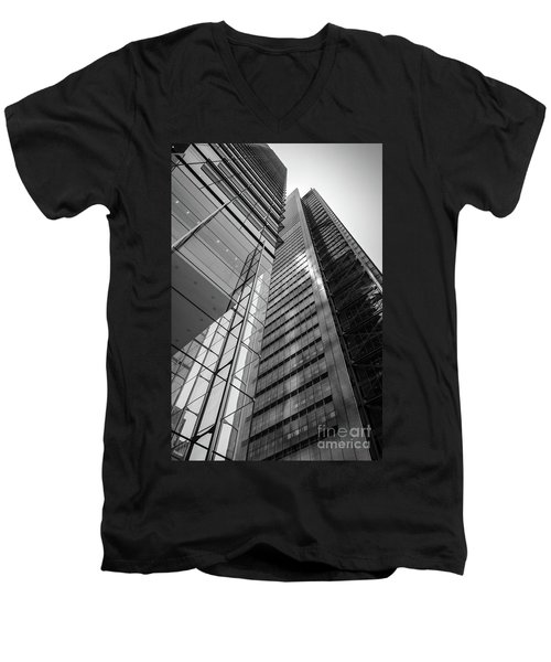 To The Top   -27870-bw Men's V-Neck T-Shirt by John Bald
