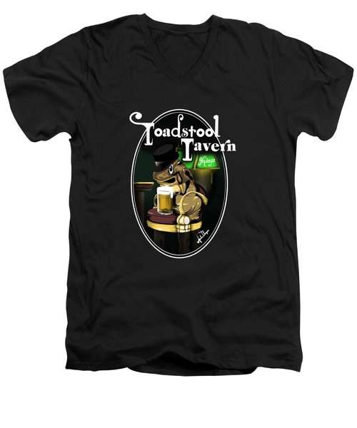 Toadstool Tavern  Men's V-Neck T-Shirt