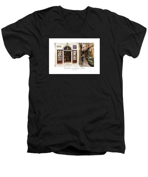 Tobaconist In Kerkyra - Corfu Men's V-Neck T-Shirt