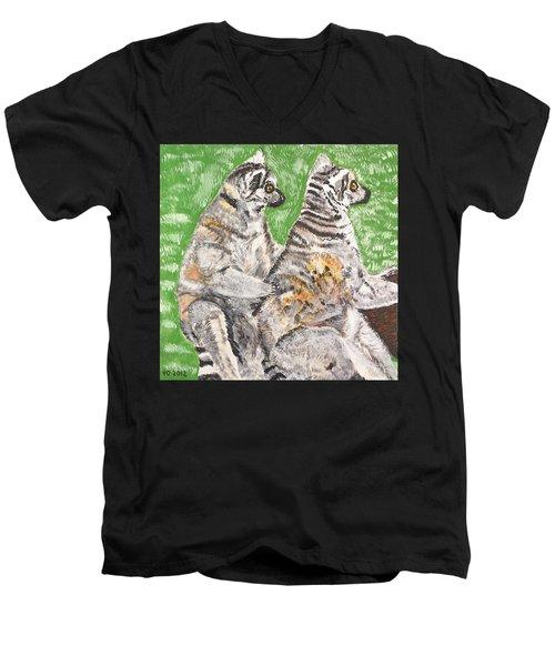 Together Men's V-Neck T-Shirt by Valerie Ornstein