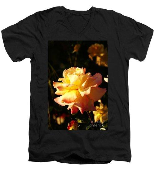 Together We Stand Men's V-Neck T-Shirt by Linda Shafer