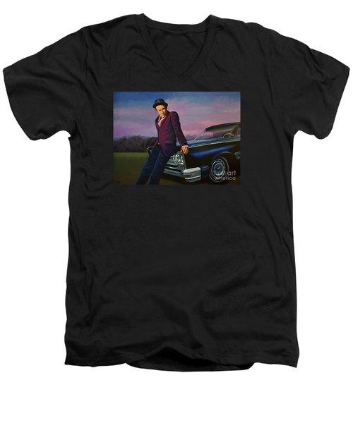 Tom Waits Men's V-Neck T-Shirt by Paul Meijering
