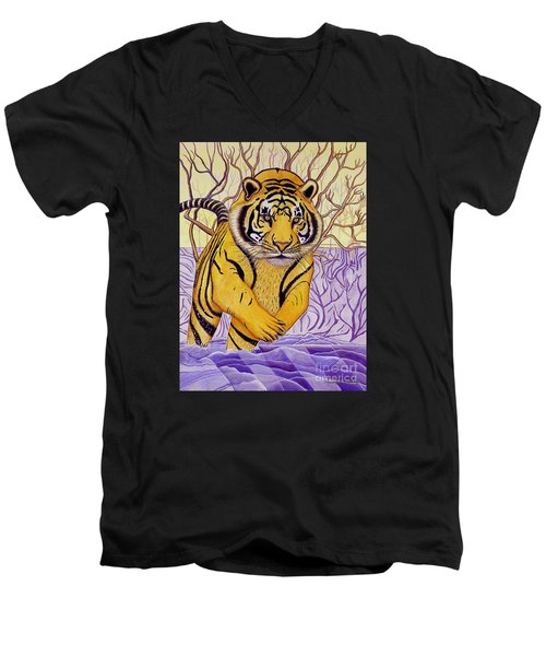 Tony Tiger Men's V-Neck T-Shirt