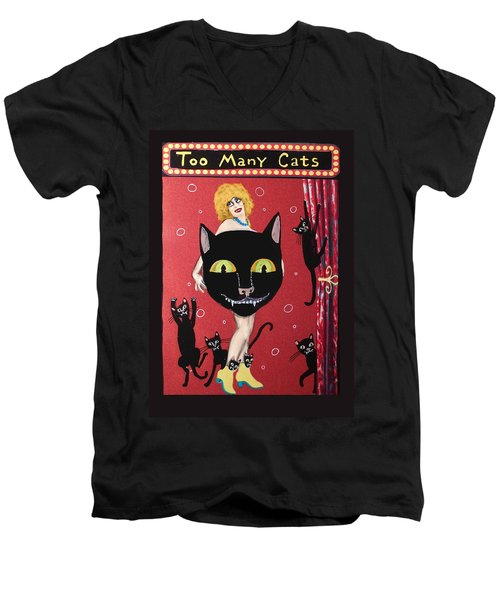 Too Many Black Cats Men's V-Neck T-Shirt
