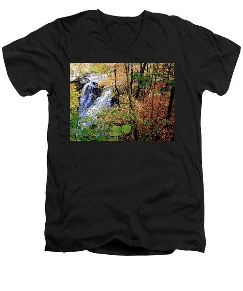 Top Of The Falls Men's V-Neck T-Shirt