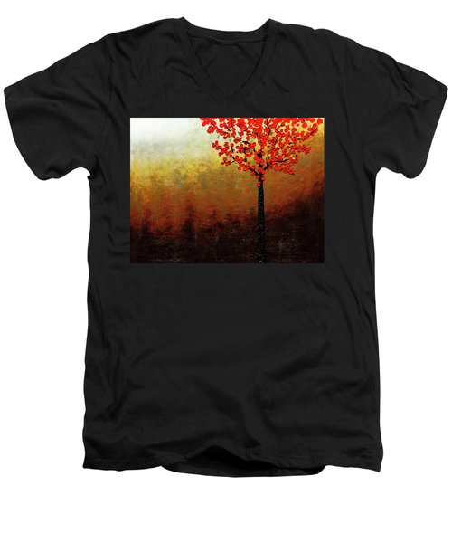 Top Of The Hill Men's V-Neck T-Shirt