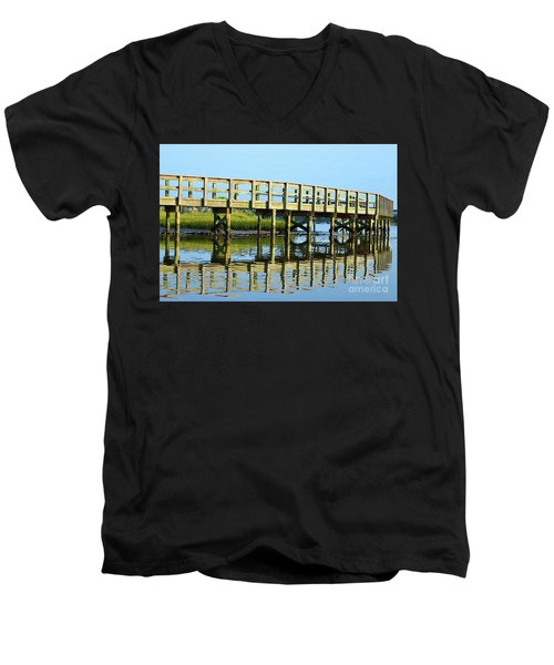Topsail Island Walk Men's V-Neck T-Shirt