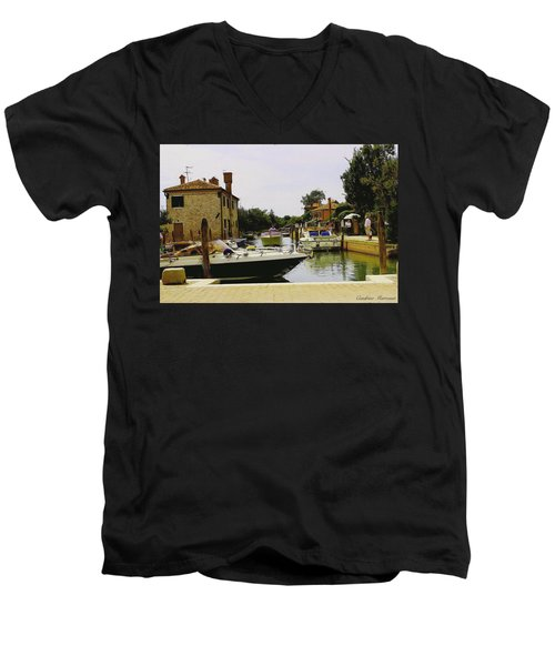 Men's V-Neck T-Shirt featuring the photograph Torcello Island by Cendrine Marrouat